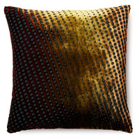 Polka Dot 16x16 Velvet Pillow, Copper, Decorative Pillows