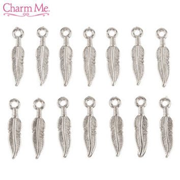 Small Silver Feather Charms | Hobby Lobby | 171538