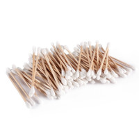 100 Pcs Double Ended Antibacterial Sanitary Cosmetic Cotton Swab Buds