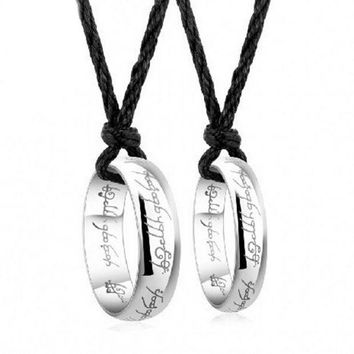 DCCKIX3 selling pendant couple RING 925 sterling silver rings single ring on the ring of male and female allure = 1929996932