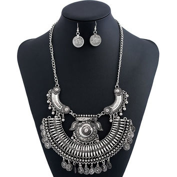 Alloy Piggy Engraved Coin Jewelry Set