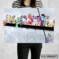 Poster Print My Little Pony Lunch on a Skyscraper Wall Decor Canvas Print - halawatani.com