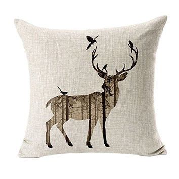 Deer Sofa Bed throw pillow case cushions home decor decorative Cushion cover capa de almofada quality first