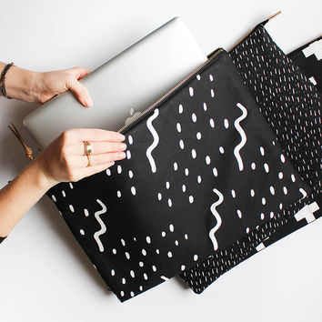 "Modern Laptop Sleeve - **NOW IN 13"" MACBOOK size** Waves Design - MacBook Case One Size Fits Most"