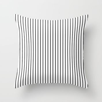 #44 Lines Throw Pillow by Minimalist Forms