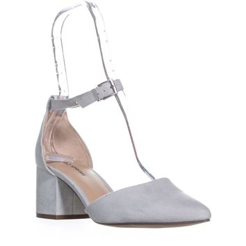 Call It Spring Aiven Block-Heel Ankle-Strap Pumps, Denim, 7 US / 37.5 EU