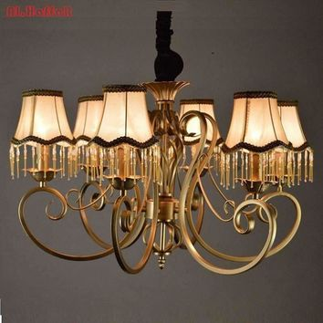 Christmas European Fashion Vintage Chandelier Ceiling lamp 6/8 Candle Lights Lighting Fixtures Iron Home Lighting E14 Modern