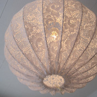 Last one, Lamp Pendant light made in shabby chic style