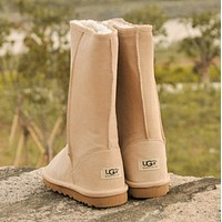"""UGG"" female fashion wool snow boots wool shoes"