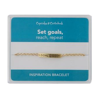"""Goal Digger"" Inspirational Bracelet in Gift Box (Gold or Silver)"