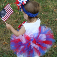 Baby Girl Tutu for Memorial Day or 4th of July -- Red, White and Blue Tutu