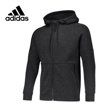 Adidas Original New Arrival Official Men's Breathable Knitted Jacket Hooded Leisure Sportswear B45728 S98783