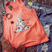 Hippie bohemian zen Buddha inspired tank top for trendy girl