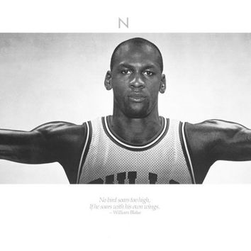 Michael Jordan Wings Basketball Poster 21x62
