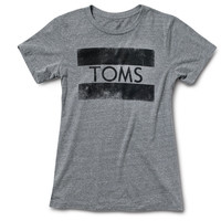TOMS Heather Grey Stamp Tee Grey