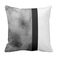 cool abstract watercolor design throw pillow