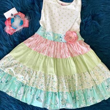 Haute Baby Easter Spring Lime Blossom Easter Dress