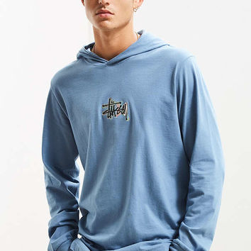 Stussy Prism Logo Hooded Long Sleeve Tee | Urban Outfitters