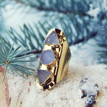 Shadow Druzy Ring