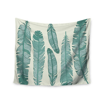"KESS Original ""Balsam Feathers"" Beige Green Wall Tapestry"