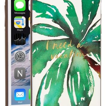 kate spade new york 'i need a vacation' iPhone 6 Plus & 6s Plus case | Nordstrom
