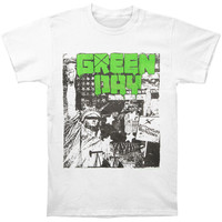 Green Day Men's  State Of Liberty T-shirt White
