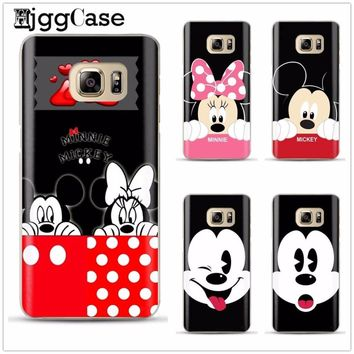 Funny Minnie Mickey Mouse cover soft Phone Case For Samsung Galaxy S6 S7 Edge S8 S9 plus J5 J7 A3 A5 A7 2016 2017 a8 plus 2018