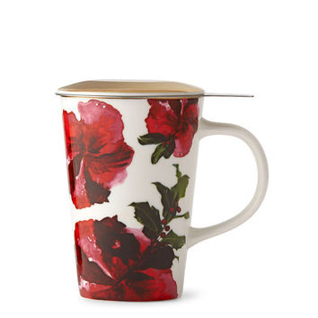 Dottie Red Infuser Mug