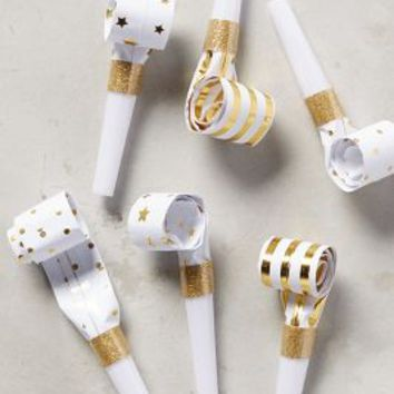 Meri Meri Gleaming Party Blowers in Gold Size: Set Of 6 Gifts