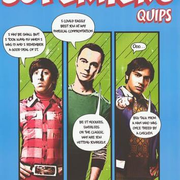 The Big Bang Theory Superhero Quips Poster 22x34