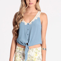 Steppin Up Tie Top - $40.00 : ThreadSence.com, Free-spirited fashion for the indie-inspired lifestyle