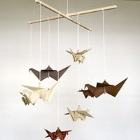Japanese Text Small Origami Mobile