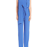 Escada - Scarf-Detail Sleeveless Belted Jumpsuit - Saks Fifth Avenue Mobile