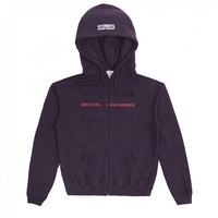 Vetements Men's Oversized Sexual Fantasies Hooded Sweater DSM Exclusive (Purple)