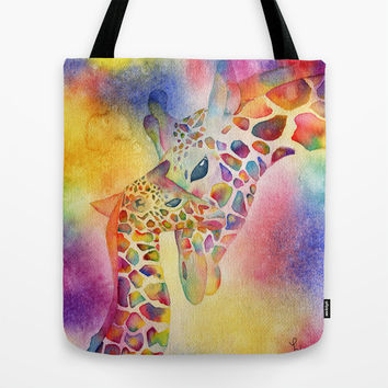 I Love You, Mommy Tote Bag by Miss L In Art