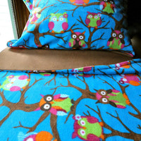 Toddler Fleece Blanket Set 'Owls At.. on Luulla