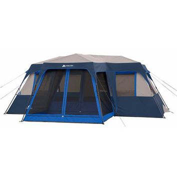 Ozark Trail 12-Person Instant Cabin Tent with Screen Room - Walmart.com