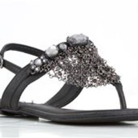 Not Rated Drop of Water Chain Link Gladiator Sandals in Black