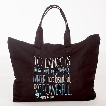 To Dance Is... Canvas Tote
