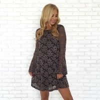 Antique Long Sleeve Floral Dress