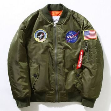 Baseball suit flight suit men tide brand MA1 pilot jacket cotton clothing air force coat autumn and winter couple coat