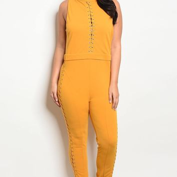 Womens sleeveless fitted jumpsuit