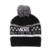 Vans Elite Pom Beanie - Mens Hats - Black - One