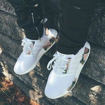 DCCKIJG shosouvenir Adidas NMD White Contrast Camouflage Green Casual Sports Shoes
