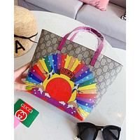 Gucci Popular Women Leather Print Shopping Tote Handbag Shoulder Bag