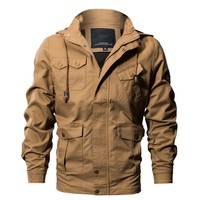 Mens Casual Cargo Jacket outerwear Military style Tactical Jackets And Coats