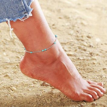 Women Vintage Boho Shell Chain Anklet Bracelet Beach Jewelry