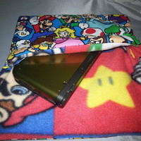 Mario Bros. and Friends 3DS/3DS XL Soft Case Lined with Mario Fleece