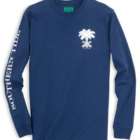Southern Tide ST Club Long Sleeve T-Shirt- Blue Depths