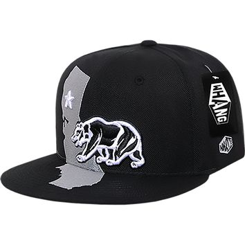 California Republic Monster Cali State Bear Snapback Hat by Whang